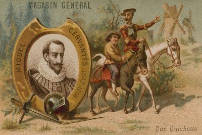 Miguel De Cervantes, Spanish Novelist, Poet and Playwright--Giclee Print