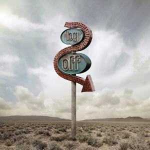 Log off Neon in the Desert by Miguel Navarro