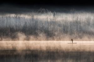 Suping on Bohinj Lake by Miha Pavlin