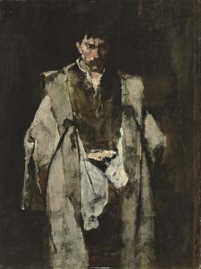 Tramp at Night; Un Vagabond De Nuit by Mihaly Munkacsy