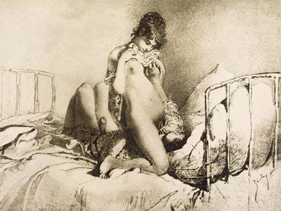 Couple Engaged in Foreplay, Plate 6 from Liebe