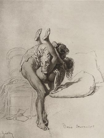 Couple Having Sex, Plate 35 of Liebe