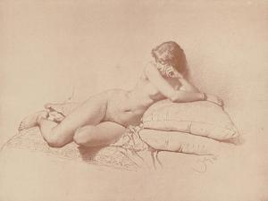 Study of a Reclining Female Nude, 1885 by Mihaly von Zichy