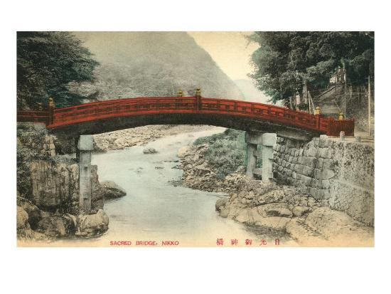 Mihashi Bridge, Nikko, Japan--Art Print