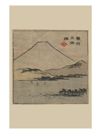 Miho Bay in Suruga (Suruga Miho No Ura)-Ando Hiroshige-Art Print