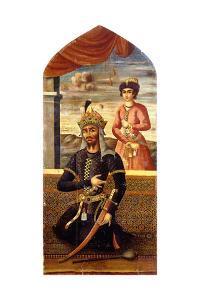 Portrait of Afrasiyab, King of Turan, C.1803-4 by Mihr 'Ali