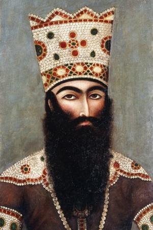Qajar Royal Portrait; Probably Fath 'Ali Shah (1772-1834), C.1810