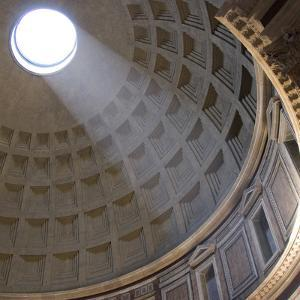 Pantheon, Rome. Shaft of Sunlight Through Oculus in Dome by Mike Burton