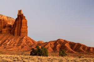 Chimney Rock Along The Waterpocket Fold, Capitol Reef National Park, Utah by Mike Cavaroc