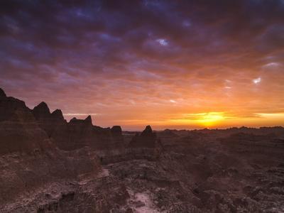 Cloudy Badlands Sunrise