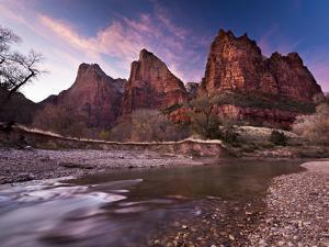 Court of the Patriarchs in Zion Canyon by Mike Cavaroc