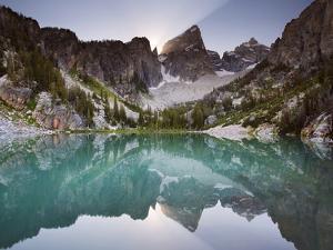 Delta Lake and the Grand Teton by Mike Cavaroc
