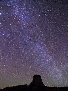 Devil's Tower under Milky Way Galaxy by Mike Cavaroc