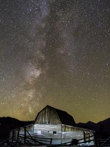 Moulton Barn and Milky Way Galaxy by Mike Cavaroc