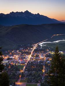 Overlooking Jackson, Wyoming by Mike Cavaroc
