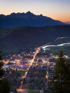 Overlooking Jackson, Wyoming by Mike Cavaroc