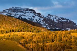 Snow Melting Off Of Sleeping Indian, Aka Sheep Mt, Above Lower Elevations Of The Gros Ventre Mts by Mike Cavaroc