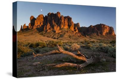 The Moon Rising Above The Western Superstition Mountains, Lost Dutchman State Park, Arizona