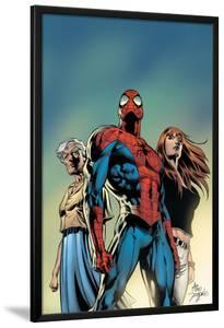 Amazing Spider-Man No.519 Cover: Spider-Man, May Parker, and Mary Jane Watson by Mike Deodato