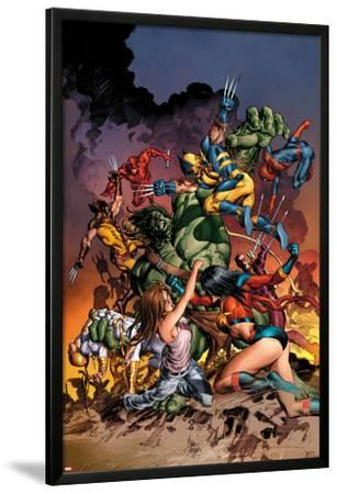 New Avengers No.20 Cover: Jessica Jones, Ms. Marvel, Skaar, Wolverine, Spider-Man and Others by Mike Deodato