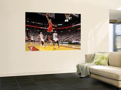 Chicago Bulls v Miami Heat - Game FourMiami, FL - MAY 24: Derrick Rose, LeBron James and Mike Bibby