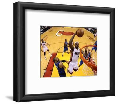 Dallas Mavericks v Miami Heat - Game One, Miami, FL - MAY 31: LeBron James and Tyson Chandler