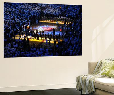 Miami, FL - June 17: General view of the arena as teams line up for Game Three of the 2012 NBA Fina