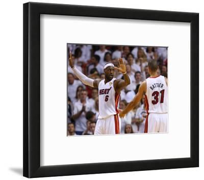 Miami, FL - June 20: LeBron James and Shane Battier