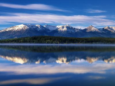 Canada, Alberta, Pyramid Lake in Jasper National Park