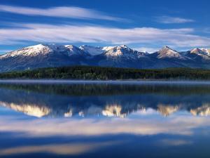 Canada, Alberta, Pyramid Lake in Jasper National Park by Mike Grandmaison