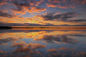 Namekus Lake Reflection by Mike Grandmaison