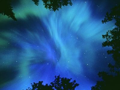 Northern Lights Or Aurora Borealis, Tilton Lake, Sudbury, Ontario, Canada.