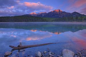Patricia Lake at Sunrise by Mike Grandmaison