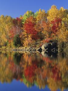 Simon Lake Reflection, Naughton, Ontario, Canada by Mike Grandmaison