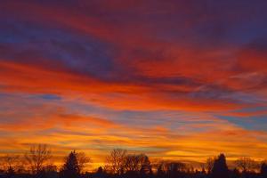 Sky at sunset, Winnipeg, Manitoba, Canada. by Mike Grandmaison