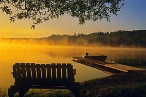 Tilton Lake Sunrise by Mike Grandmaison