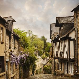 Quaint French Houses and Cobblestone Street by Mike Kemp