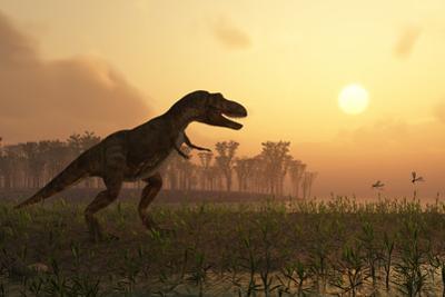 Dinosaur In Landscape by Mike_Kiev