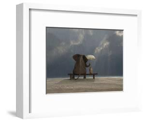 Elephant And Dog Sit Under The Rain by Mike_Kiev