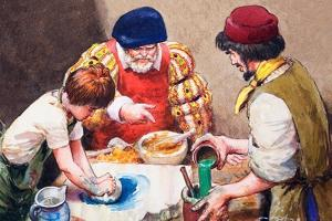 Studio Assistants Mixing Paints for Hans Holbein by Mike Lea