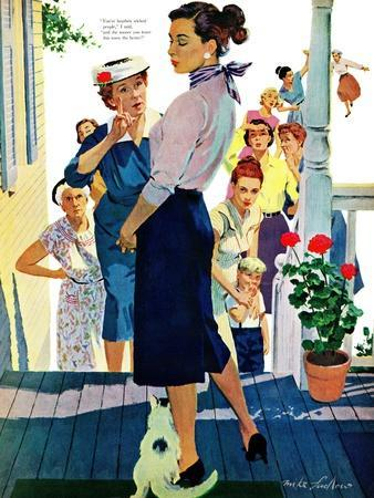 """Strangers in Town, 2 - Saturday Evening Post """"Leading Ladies"""", May 30, 1959 pg.19"""