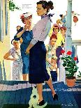 """Strangers in Town, 2 - Saturday Evening Post """"Leading Ladies"""", May 30, 1959 pg.19-Mike Ludlow-Giclee Print"""