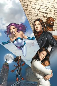 The Pulse No.14 Cover: Knightress, Jones, Jessica, Cage, Luke and Jewel by Mike Mayhew
