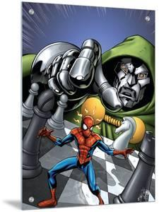 Marvel Adventures Spider-Man No.9 Cover: Spider-Man and Dr. Doom by Mike Norton