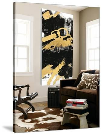Gold Black Abstract Panel II
