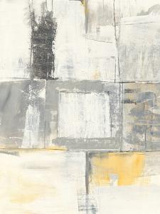 Gray and Yellow Blocks II White by Mike Schick
