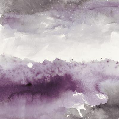 Midnight at the Lake II Amethyst and Grey by Mike Schick