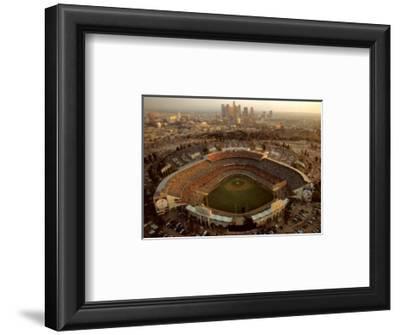 Dodger Stadium - LA Skyline at Dusk