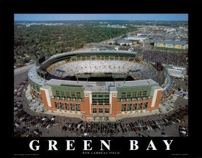 Green Bay Packers New Lambeau Field Framed Canvas Print