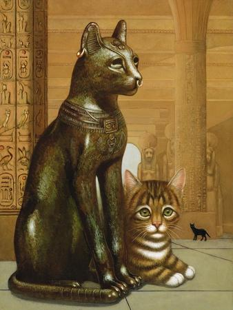Mike the British Museum Kitten, 1995-Frances Broomfield-Giclee Print